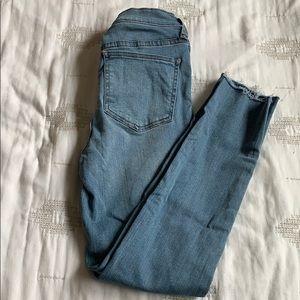 fp high waisted skinny denim jeans jeggings